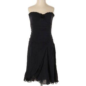 Nanette Lepore Ruffle Strapless Dress Silk